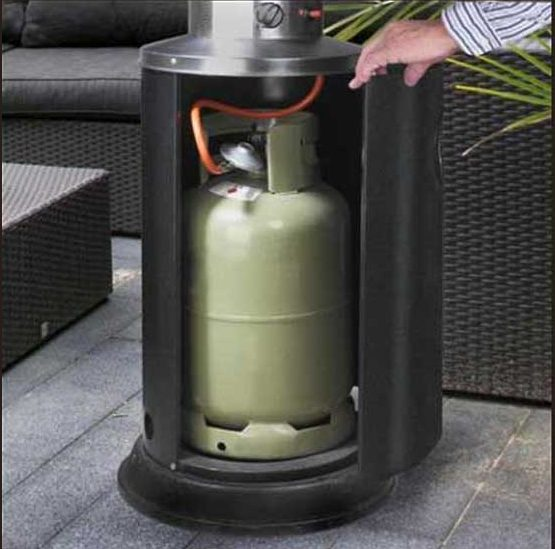 Gasfles voor terras heater of barbecue Image