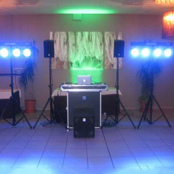 Muziekinstallatie met dj verlichting Image