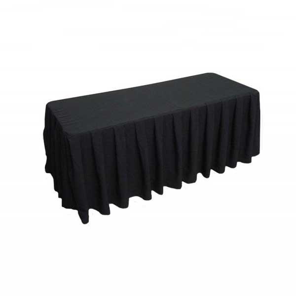 Buffet tafel met zwart kleed ( incl. wassen) Image